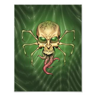 Gran arte extranjero de Lovecraftian del cráneo de Fotografías