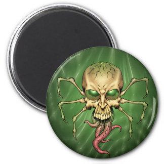 Gran arte extranjero de Lovecraftian del cráneo de Imán Redondo 5 Cm