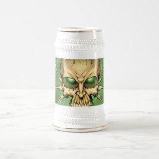 Gran arte extranjero de Lovecraftian del cráneo de Jarra De Cerveza