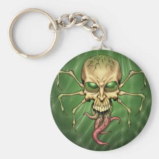 Gran arte extranjero de Lovecraftian del cráneo de Llavero Redondo Tipo Pin