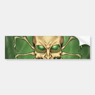 Gran arte extranjero de Lovecraftian del cráneo de Pegatina Para Auto