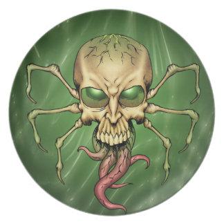 Gran arte extranjero de Lovecraftian del cráneo de Plato De Cena