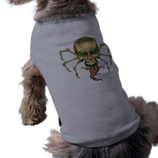 Gran arte extranjero de Lovecraftian del cráneo de Camisetas De Perrito