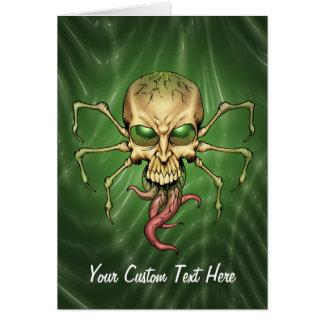 Gran arte extranjero de Lovecraftian del cráneo de Tarjeta De Felicitación