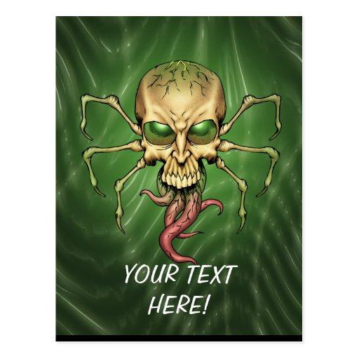 Gran arte extranjero de Lovecraftian del cráneo de Tarjetas Postales