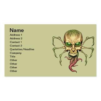 Gran arte extranjero de Lovecraftian del cráneo de Tarjetas De Visita