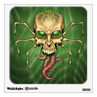 Gran arte extranjero de Lovecraftian del cráneo de Vinilo