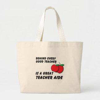 Gran asistente del profesor bolsa de mano