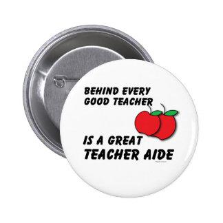 Gran asistente del profesor pin redondo 5 cm