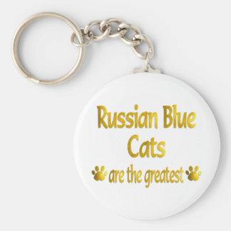 Gran azul ruso llavero redondo tipo pin
