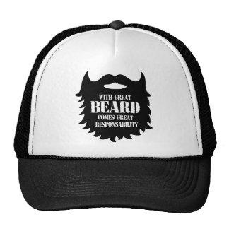 Gran barba - gran responsabilidad gorro de camionero