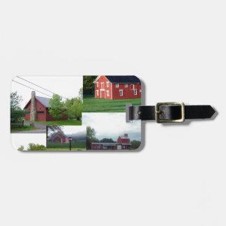 Gran Barn.jpg rojo americano Etiqueta De Maleta