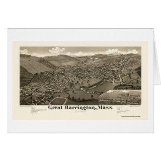 Gran Barrington, mapa panorámico del mA - 1884 Felicitación