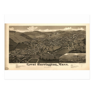 Gran Barrington, Massachusetts en 1884 Tarjeta Postal