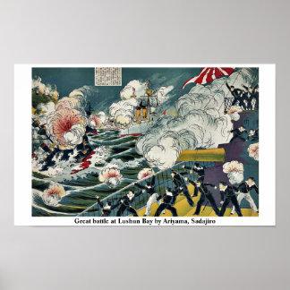 Gran batalla en la bahía de Lushun por Ariyama, Sa Póster