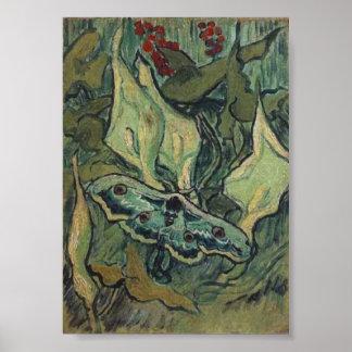 Gran bella arte de la polilla del pavo real de Van Impresiones