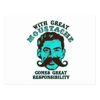 Gran bigote tarjetas postales