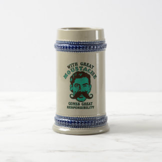 Gran bigote jarra de cerveza