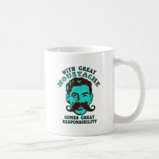 Gran bigote taza de café