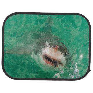 Gran blanco Shark1 Alfombrilla De Coche
