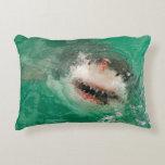 Gran blanco Shark1 Cojín