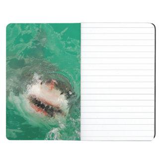 Gran blanco Shark1 Cuaderno Grapado