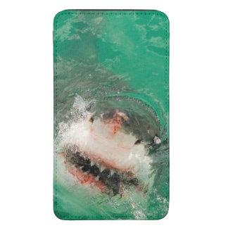 Gran blanco Shark1 Funda Acolchada Para Galaxy S5