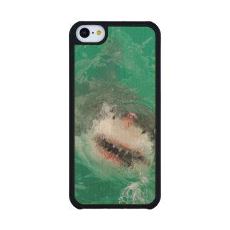 Gran blanco Shark1 Funda De iPhone 5C Slim Arce