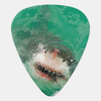 Gran blanco Shark1 Púa De Guitarra