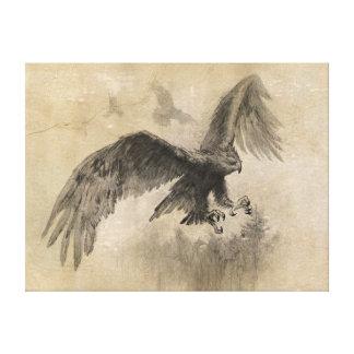Gran bosquejo de Eagles Impresion De Lienzo