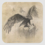 Gran bosquejo de Eagles Pegatina Cuadrada