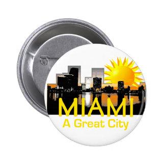 Gran botón de la ciudad de MIAMI Pins