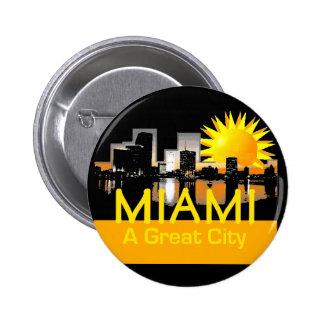 Gran botón de la ciudad de MIAMI Pin