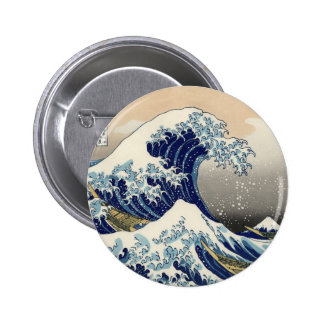 Gran botón de la onda pin redondo de 2 pulgadas