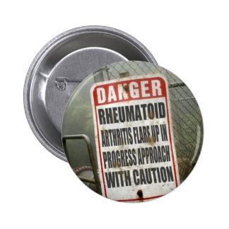 Gran botón para causar conciencia llamaradas pins