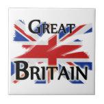 Gran Bretaña - bandera descolorada Azulejos