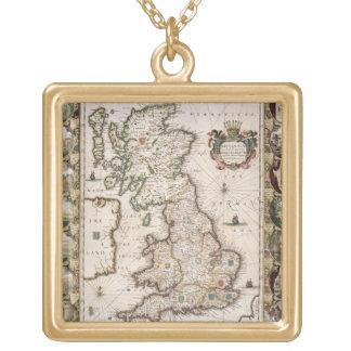 Gran Bretaña como fue dividida en el Tyme del Engl Colgante Cuadrado