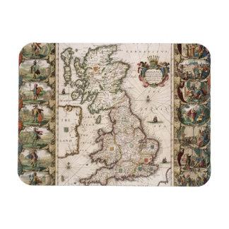 Gran Bretaña como fue dividida en el Tyme del Engl Imán Rectangular