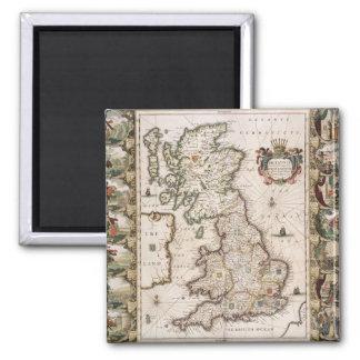 Gran Bretaña como fue dividida en el Tyme del Engl Imán Cuadrado