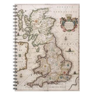 Gran Bretaña como fue dividida en el Tyme del Engl Libretas Espirales