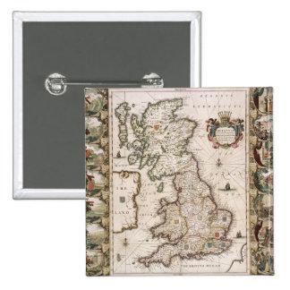 Gran Bretaña como fue dividida en el Tyme del Engl Pin Cuadrado