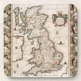 Gran Bretaña como fue dividida en el Tyme del Engl Posavasos De Bebidas