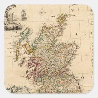 Gran Bretaña, Irlanda Pegatina Cuadrada