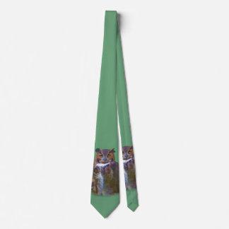 Gran búho de cuernos corbatas personalizadas