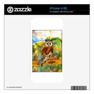 Gran búho de cuernos skins para eliPhone 4