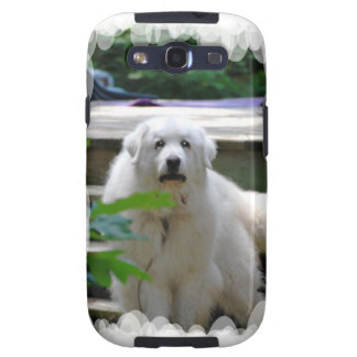 Gran caja blanca de la galaxia de Samsung del perr Galaxy SIII Cobertura