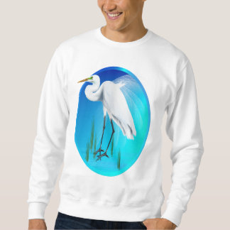 Gran camisa del óvalo del Egret