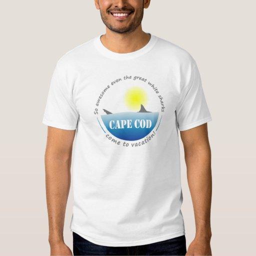 Gran camiseta del tiburón blanco de Cape Cod Remera