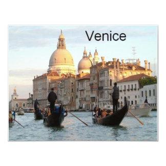 """Gran Canal de Italia Venecia (St.K) Invitación 4.25"""" X 5.5"""""""