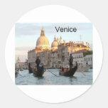 Gran Canal de Italia Venecia (St.K) Etiqueta Redonda
